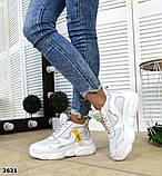 Черные, бежевые, белые! Стильные высокие кроссовки женские, фото 6