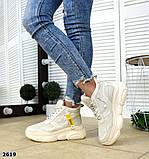 Черные, бежевые, белые! Стильные высокие кроссовки женские, фото 7