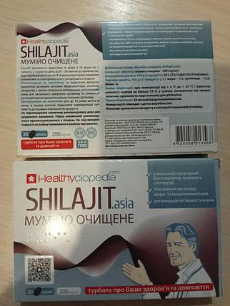 Мумие Шиладжит Азия таблетки 0,2г №30, фото 2
