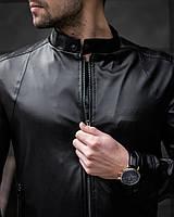 Куртка кожаная мужская весенняя   осенняя Klod x black ЛЮКС качества