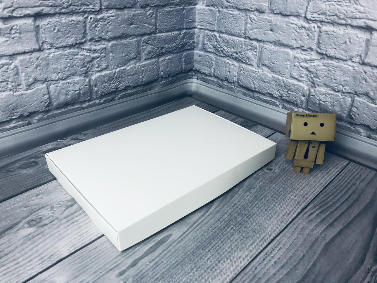 *10 шт* / Коробка для пряников / 300х200х30 мм / Белая / без окна