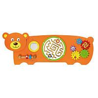 """Настінна іграшка бізіборд Viga Toys """"Ведмідь"""" (50471)"""