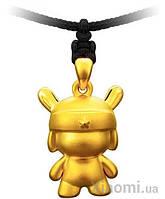 Золотой кулон Xiaomi LuckyME Pure Gold Mi bunny 2 г
