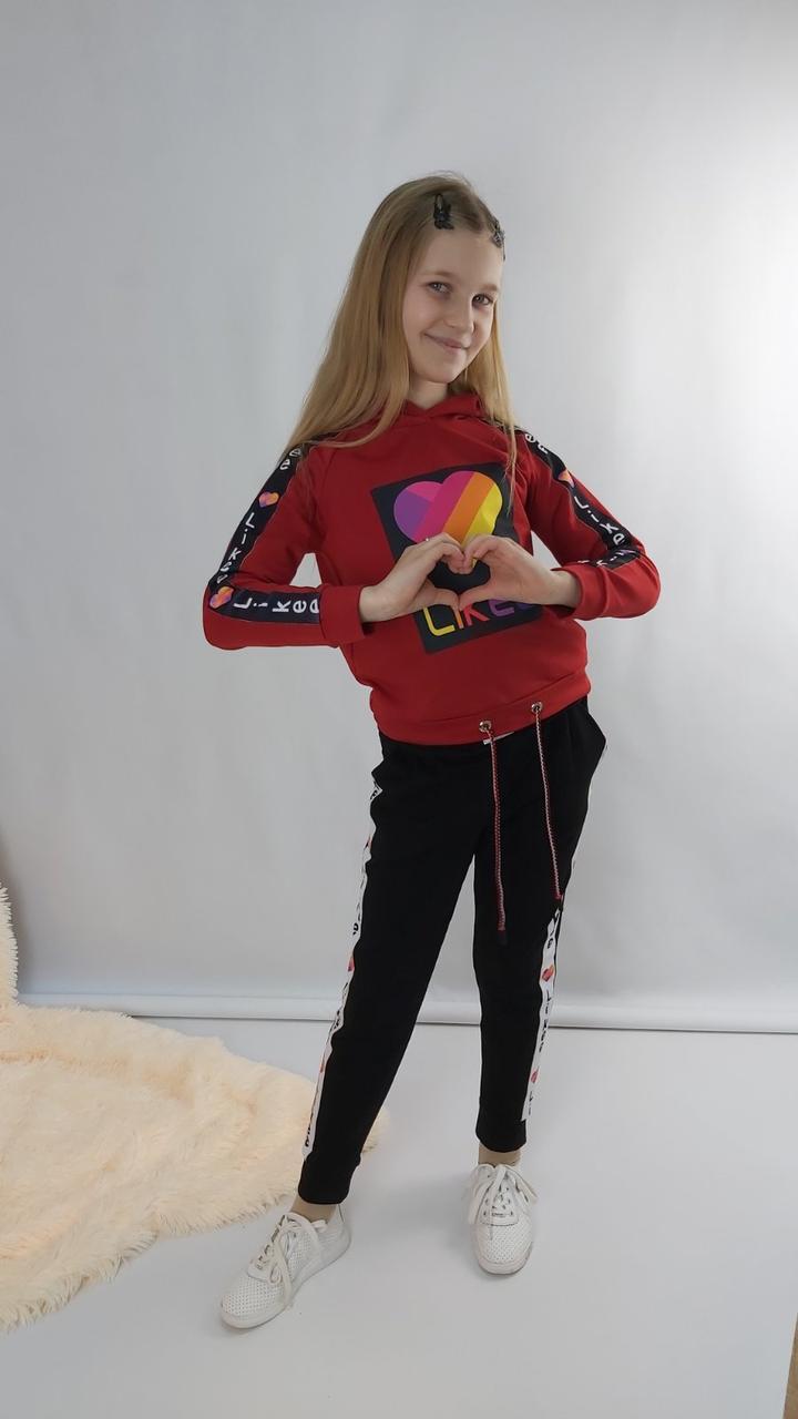 Костюм трикотажный с модным принтом для девочки 128-164 р