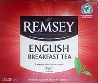 Remsey English Breakfast Tea чай черный в пакетиках 150 г