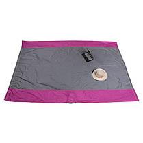Гамак GreenCamp Voyage 300*200 см, парашютный шелк, серый/вишневый, фото 3