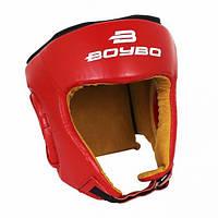 Шлем для единоборств BOYBO натуральная кожа Красный  M