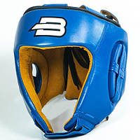 Шлем для единоборств BOYBO натуральная кожа синий Шлем BoyBo Nylex боевой синий. XL