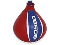 🔥 Боксерская груша BoyBo (кожа) круглая красная с синим GR-311
