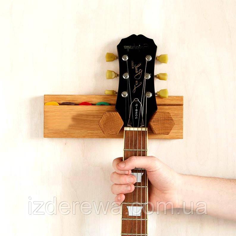 """Настенный держатель гитары """"Врангель"""" ваниль"""