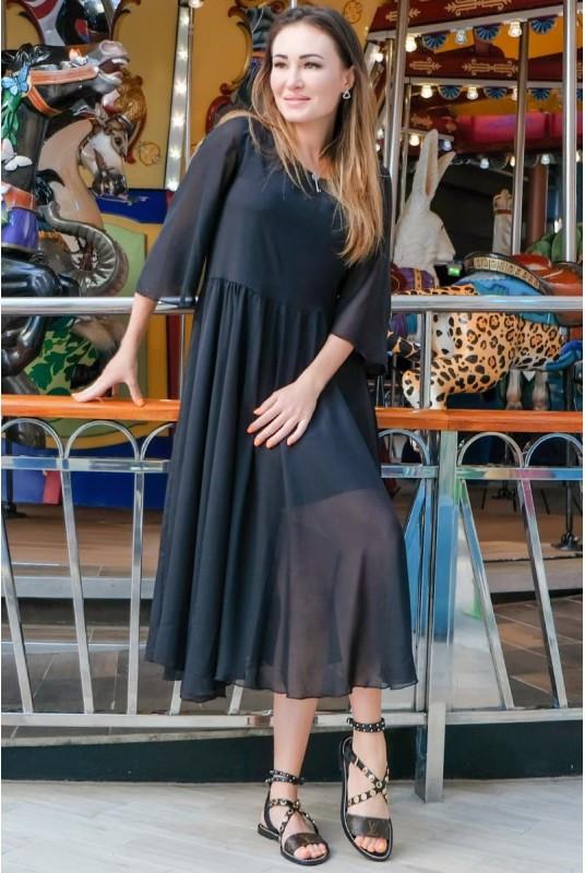 Свободное шифоновое платье Ренесанс
