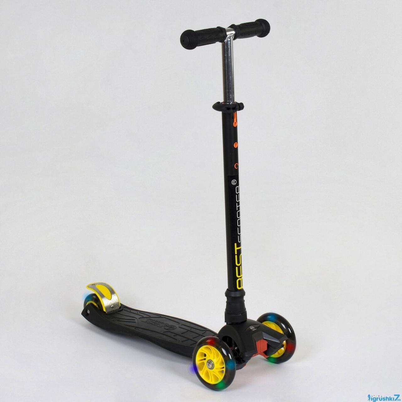 Дитячий триколісний самокат Best Scooter 466-113/A 24320 MAXI чорний