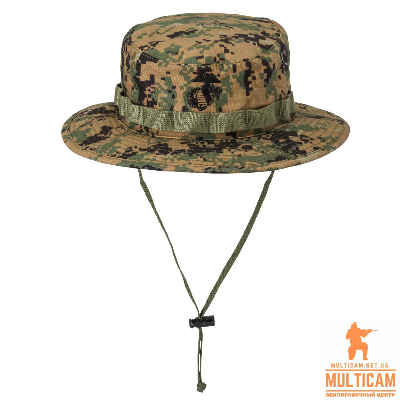 Панама військова Helikon-Tex® USMC Boonie Hat - PolyCotton Twill - USMC Digital Woodland