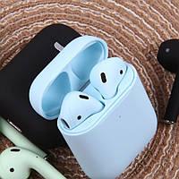 Беспроводные наушники AP2 MACAROON Airpods (Blue) с кейсом | Bluetooth | PopUp | блютуз