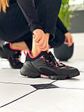 Стильные женские кроссовки Dior black pink, фото 4