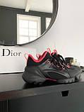 Стильные женские кроссовки Dior black pink, фото 2