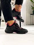 Стильные женские кроссовки Dior black pink, фото 6