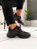 Стильные женские кроссовки Dior black pink, фото 8