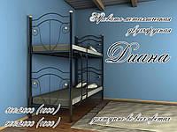 Кровать металлическая Диана 2 яруса Loft Металл-Дизайн