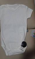 """Боди-футболка  """"Горошек"""" голубой 112003 FLEXI Турция 56 (2м)(р)"""