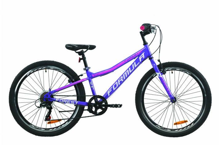 """Велосипед подростковый 24"""" Formula Forest Vbr 2020 рама 12.5"""" фиолетово-белый с малиновым, фото 2"""