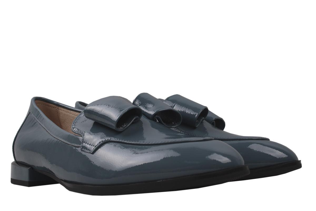 Туфли женские Geronea натуральная лаковая кожа, цвет синий, размер 36-40