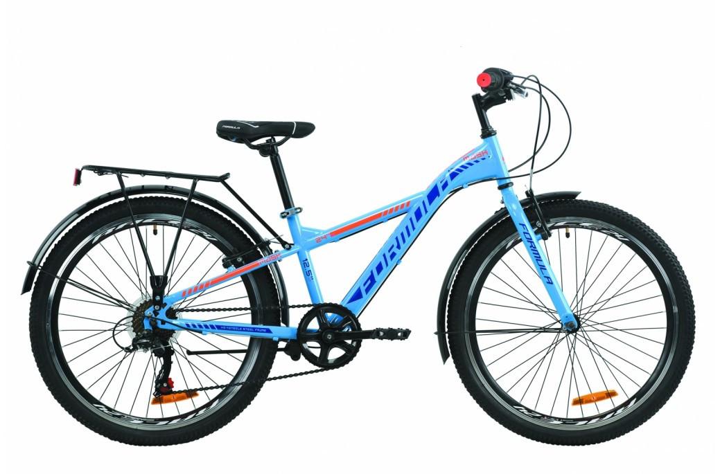 """Велосипед подростковый универсальный 24"""" Formula Mask 2020 стальная рама 12.5"""" сине-оранжевый"""