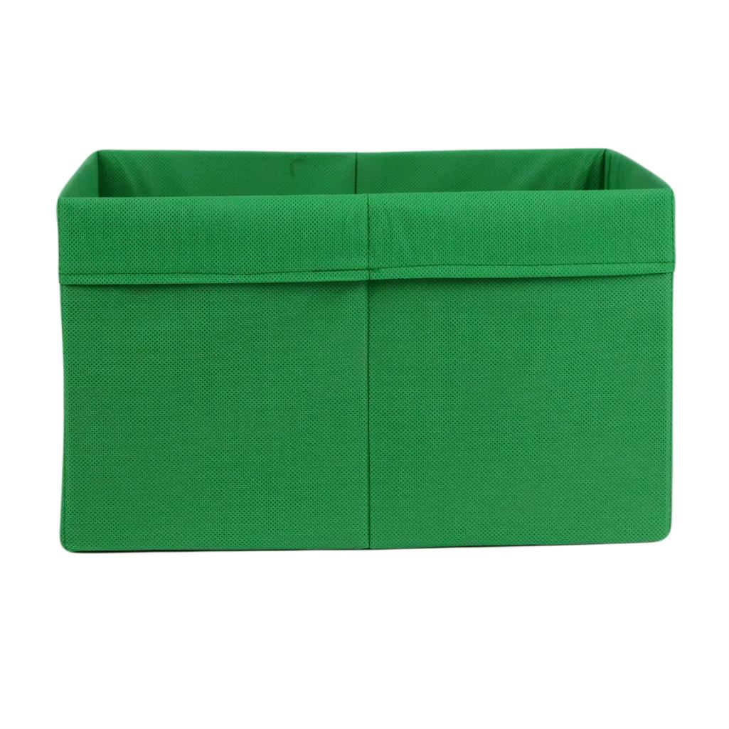 Скринька ( коробка ) для зберігання, 25*35*20 см, (спанбонд), з відворотом (зелений)