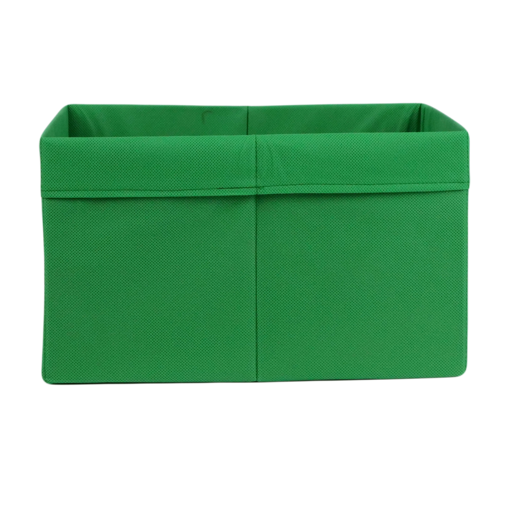 Ящик (коробка) для хранения, 25 * 35 * 20см, (спанбонд), с отворотом (зеленый)