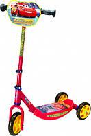 Детский самокат Smoby Toys с металлической рамой трехколесный Тачки (750154)