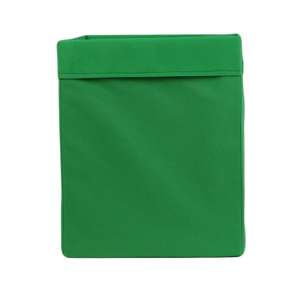 Скринька ( коробка )  для зберігання, 30*30*40 см, (спанбонд), з відворотом (зелений)