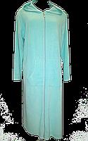 Турецкий велюровый халат большого размера  длинный , хлопок, Турция