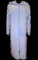 Турецкий велюровый  халат большого размера из натурального хлопка, Турция