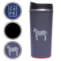 Чашка термос 500мл (металл, цвета в ассортименте)