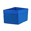 Скринька для зберігання, 25*35*20 см, (спанбонд), з відворотом (синій), фото 2