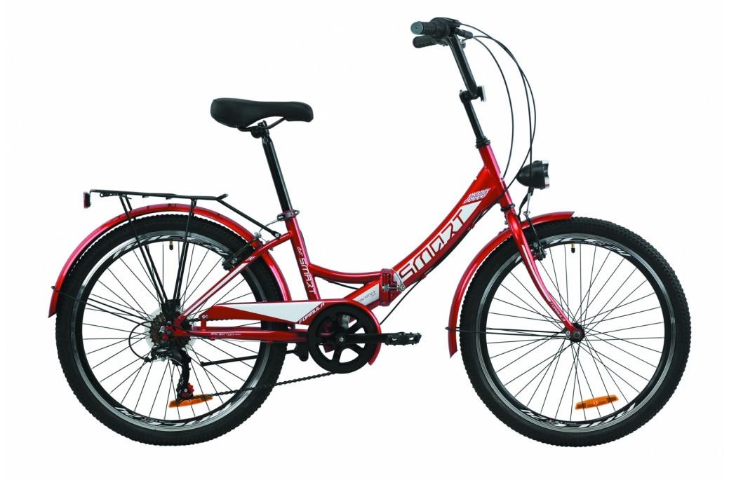 """Велосипед складний універсальний 24"""" Formula Smart з багажником, крилом, ліхтарем St 2020 сталева рама 15"""""""