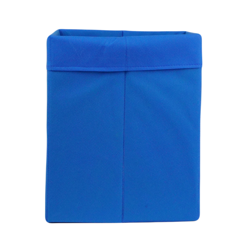 Ящик ( коробка) для хранения, 30 * 30 * 40см, (спанбонд), с отворотом (синий)