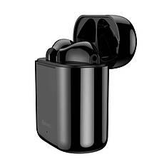 Бездротові навушники гарнітура з мікрофоном Baseus Encok W09 TWS Black, фото 3