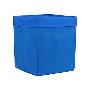 Ящик ( коробка) для хранения, 25 * 25 * 30см, (спанбонд), с отворотом (синий)