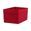 Ящик ( коробка) для хранения, 25 * 35 * 20см, (спанбонд), с отворотом (красный), фото 2