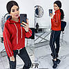 Прогулянковий костюм жіночий з костюмки (5 кольорів) ЕФ/-507 - Червоний