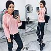 Прогулянковий костюм жіночий з костюмки (5 кольорів) ЕФ/-507 - Рожевий