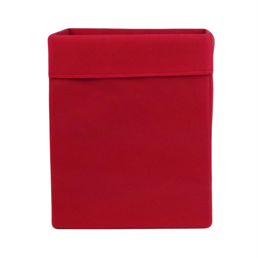 Ящик ( коробка) для хранения, 30 * 30 * 40см, (спанбонд), с отворотом (красный)