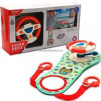 Детский музыкальный руль для игры в автомобиле (свет, звук) диам - 15 см (HE0623), фото 1