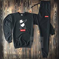 Мужской спортивный костюм Суприм черного цвета XS