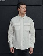 Рубашка мужская Staff white однотонная