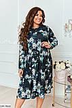 Трикотажное платье с люрексом в большом размере  Размеры: 48-50, 52-54, 56-58, 60-62, фото 2
