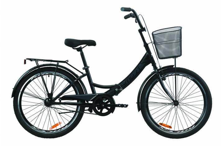 """Велосипед складний 24"""" Formula Smart Vbr з багажником,кошиком St 2020 рама 15"""" чорно-сірий з білим, фото 2"""