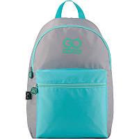 Молодежный городской рюкзак серый для девочек GoPack City 159-1 (GO20-159L-1)