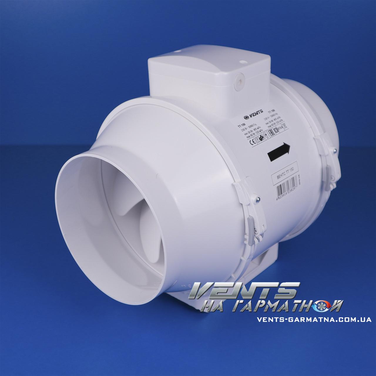 Вентс ТТ 160. Канальный вентилятор смешаного типа